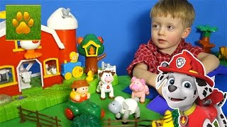 ЩЕНЯЧИЙ ПАТРУЛЬ Маршал и Рокки спасают Животных  Распаковка Машинки Видео для детей Lion boy