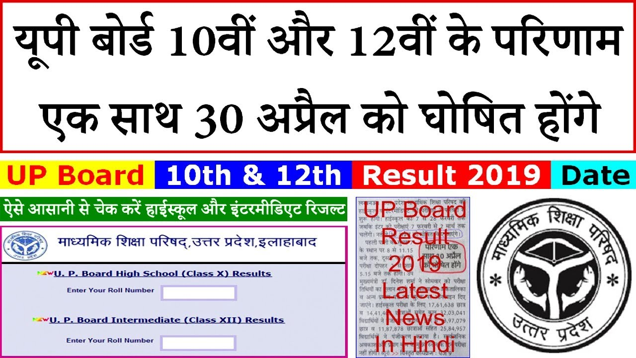 Result: Check your UP Board High school & Intermediate Reasult 2019