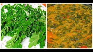 DRUMSTICK LEAVES DAL/how to make munagaku tomato pappu(మునగాకు పప్పు)
