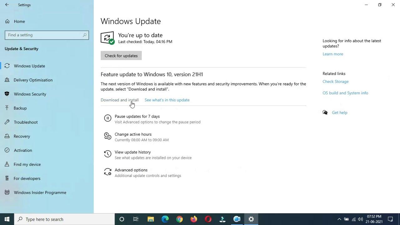 Download Windows 10 Version 21H1 Feature Update