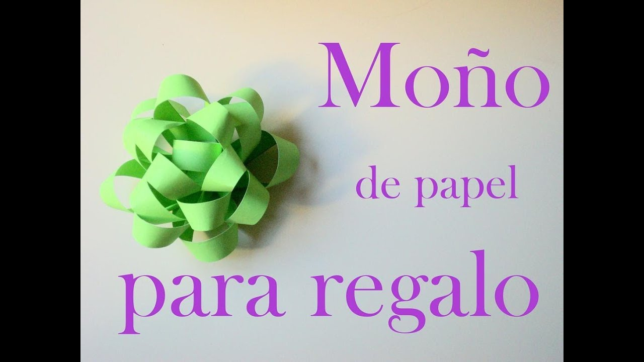 Mo o para regalo de papel youtube - Papeles de regalo ...