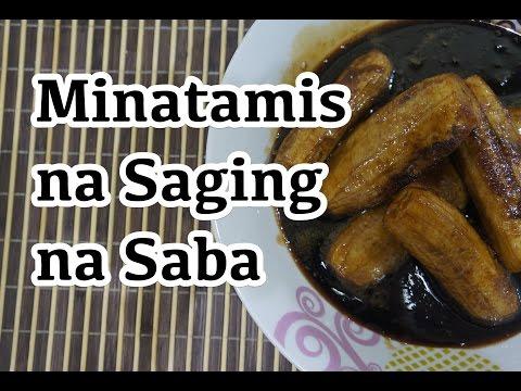 Paano magluto Minatamis na Saging na Saba Recipe - Pinoy Tagalog Filipino