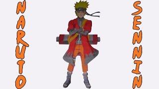 Dibujando a Naruto modo sabio/Drawing Naruto senin
