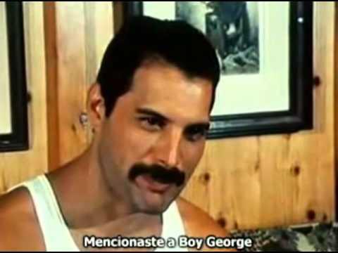 Freddie Mercury habla sobre Boy George (subtitulado en Español)