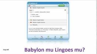 Lingoes mu Babylon mu? Tek tıkla online çeviri sözlük programları