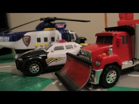 Hot Wheels Monster Trucks Police Car Race Helicopters Big Jumps
