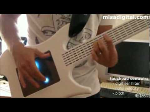 Very Cool Electric Synth Guitar With Touch Function