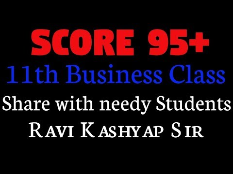 New Update For Class 11 Business Study