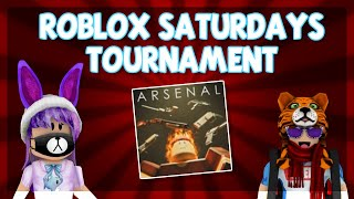 Battling other YouTubers in Arsenal WITH KREEKCRAFT! | Roblox Saturdays Tournament
