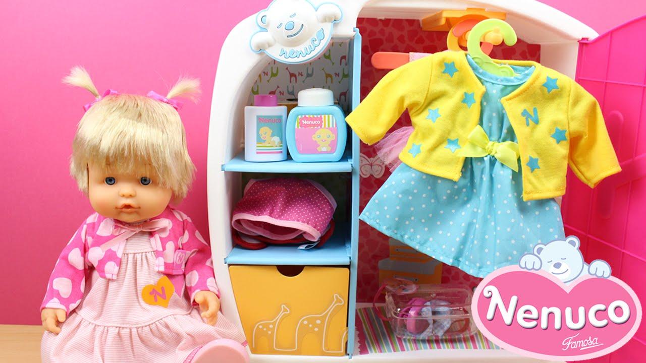 Aparador Wengue Barato ~ Armario de Nenuco Juguetes de la muñeca Bebe Nenuco en español Vestir muñecas para niñas