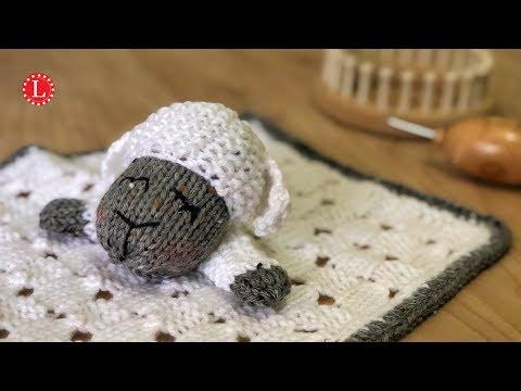 Lovey Blanket Pattern On A Knitting Loom  Sleepy Sheep Lamb | Loomahat