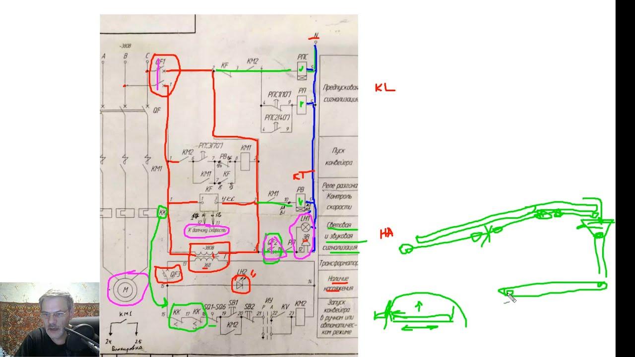 схемы управления конвейером