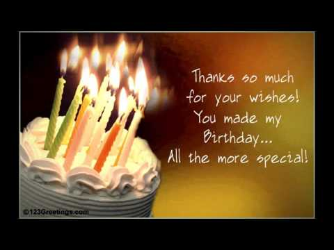 Thank You Fb Friends For The Birthday Wishes And Greetings YouTube