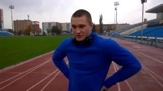 Артур Габриелов. Тренировка спринтерского бега. Беговая работа 20 раз по 100м.