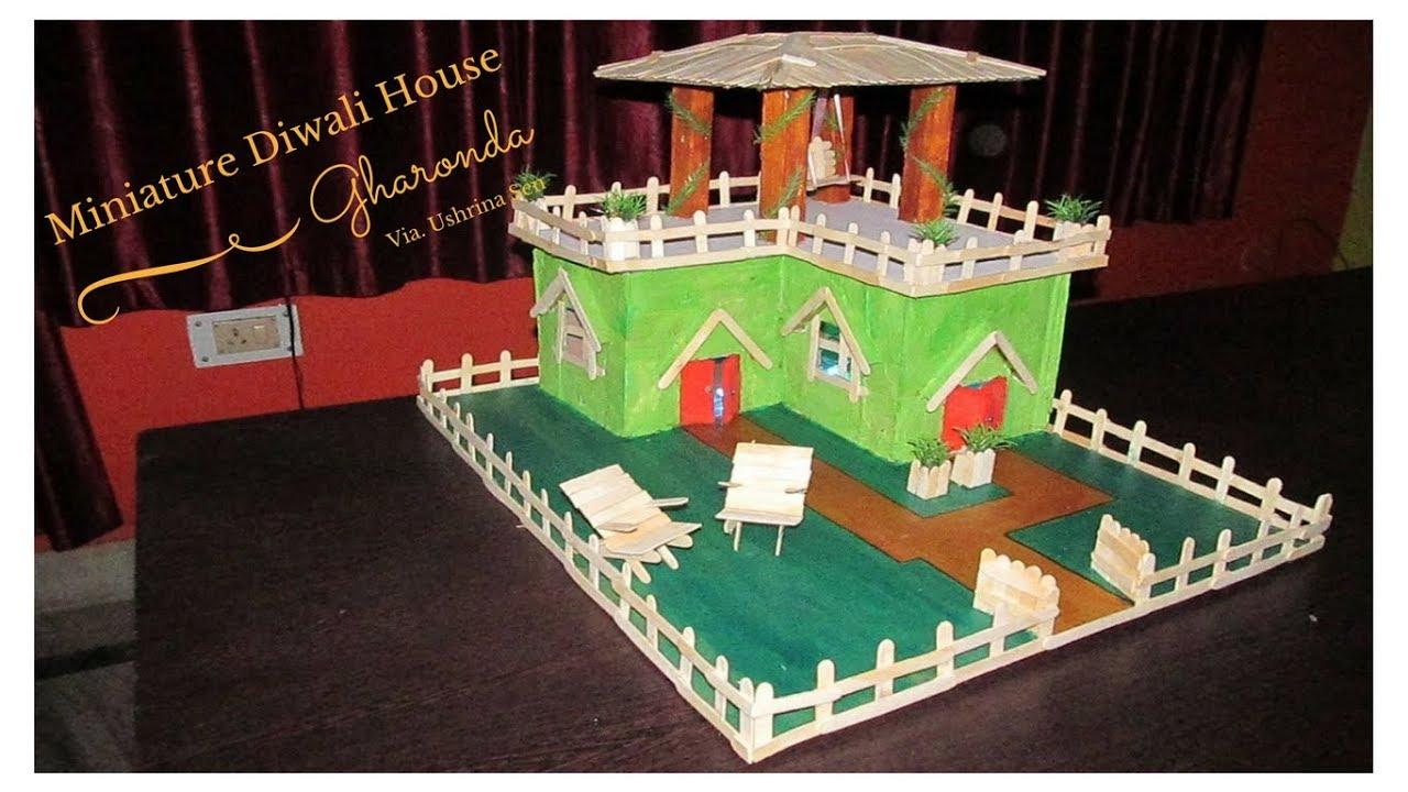 Diy miniature house for diwali gharonda