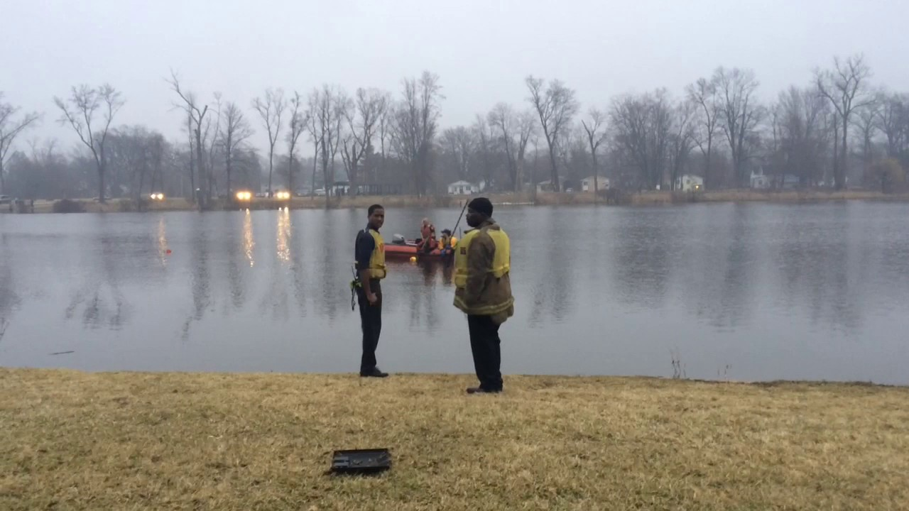 Firefighters Search Flint Lake After Report Of Submerged Vehicle
