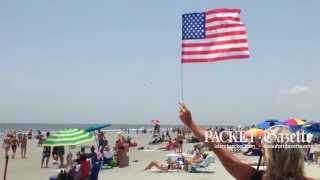 Thousands of visitors from all over the world packed Hilton Head Island's Coligny Beach on Saturday afternoon to celebrate the Fourth of July and honor veterans with the 6th annual Salute from the Shore flyover. Hilton Head was the flyover's final destination and included two F-16 fighter jets and a slew of vintage of aircraft.