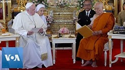 Pope Francis Meets Thailand's Buddhist Patriarch in Golden Temple