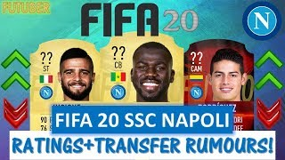 FIFA 20   SSC NAPOLI PLAYER RATINGS!! FT. KOULIBALY, RODRIGUEZ, INSIGNE ETC... (TRANSFER RUMOURS)