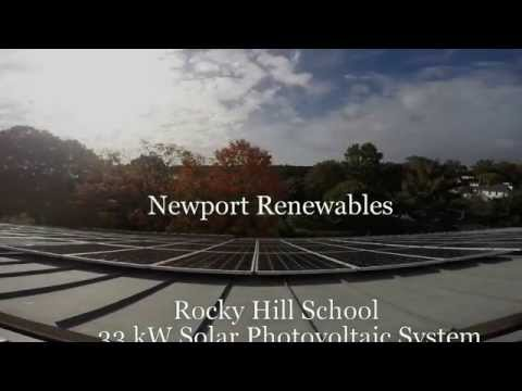 Newport Renewables Rocky Hill School Solar Time Lapse