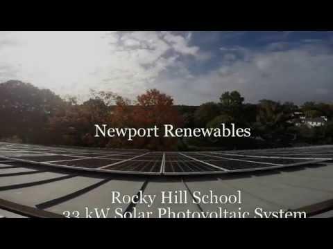 Newport Renewables Rocky Hill School Solar Time Lapse