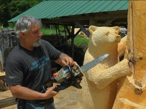 how to carve a wooden bear 2