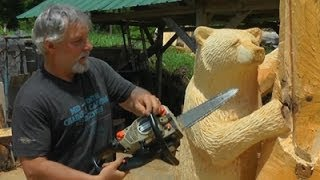 Chainsaw Artist Finds Niche Carving Wood Bears