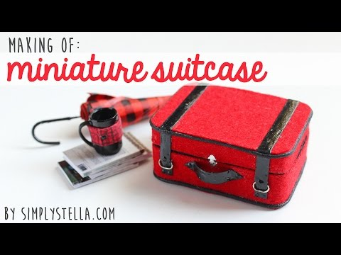 Making Of: Miniature Suitcase w/paper