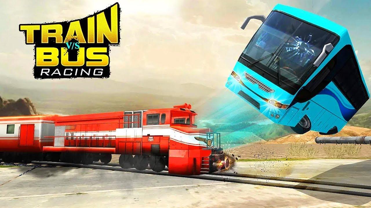Train Vs Bus Racing Gameplay Youtube