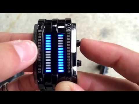 ★★★★★  Uniprod Men's Blue Binary Luminous LED Electronic Display Sport Waterproof  Watch  - Amazon