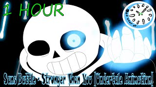 Sans Battle - Stronger Than You (Undertale Animation) 1 hour | One Hour of.