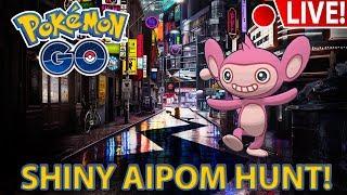 SHINY AIPOM HUNT!!! Pokemon GO