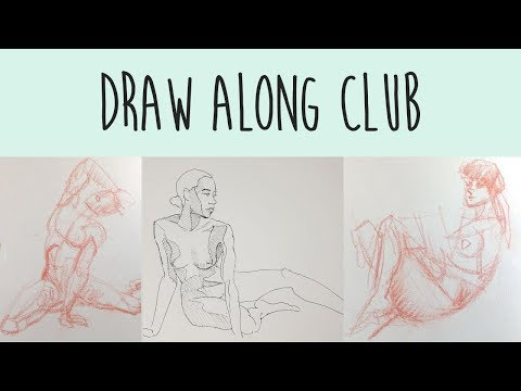 Draw Along Club - REAL TIME Figure Drawing Practice