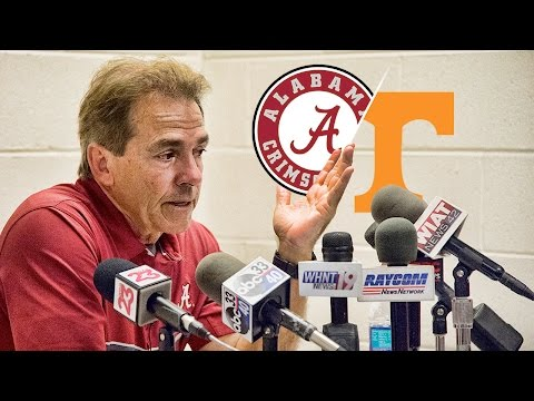 Hear what Saban said after Alabama crushed Tennessee