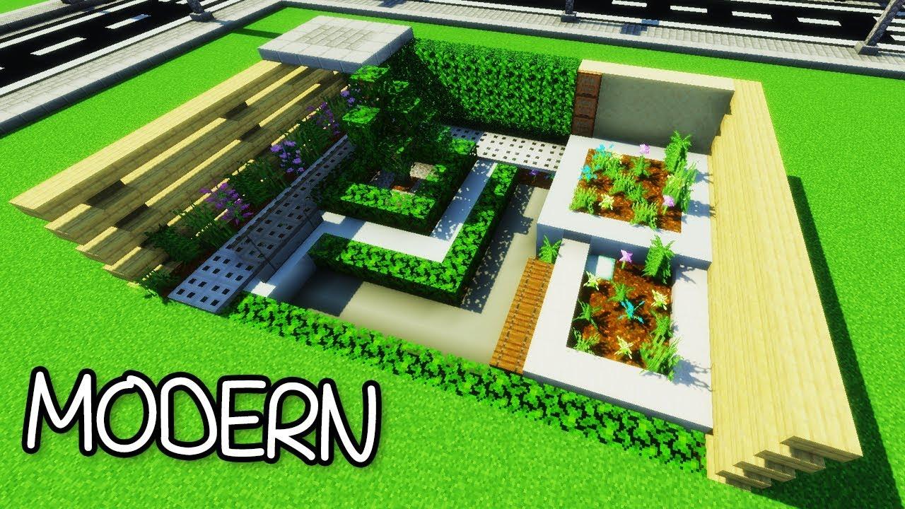 How to Build a Modern Garden in Minecraft - Gardening 3 Tutorial