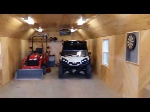 Enterprise Center Finished Lofted Deluxe Barn Cabin Doovi