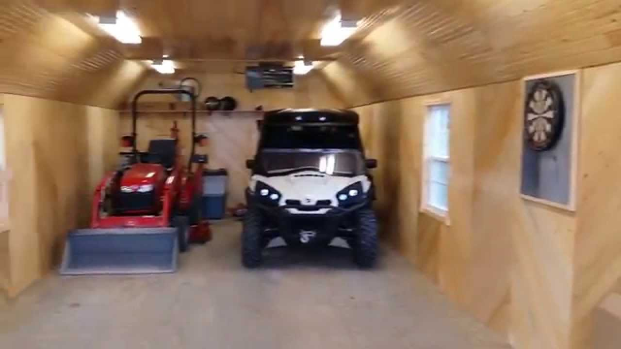14' x 40' portable garage - man cave remodel | ottawa sheds - youtube