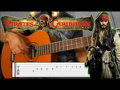 Pirates of the Caribbean TAB + Guitar Lesson - How to play