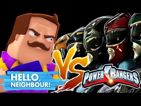 POWER RANGERS VS HELLO NEIGHBOUR - Minecraft