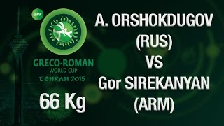 Group B Round 2 Greco Roman Wrestling 66 kg A. ORSHOKDUGO (RUS) vs G. SIREKANYAN (HUN) Tehran