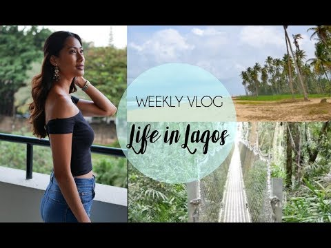 Weekly Vlog-LIFE IN LAGOS: Conservation Centre + Yoga + Silk Painting + Art Cafe + Beach & etc.