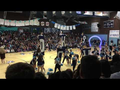 Oakmont high school cheer team rally performance