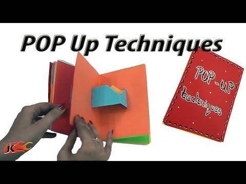 23 Pop ups card Techniques  DIY Popup Scrapbook  JK Arts 1389 MothersDayCraft