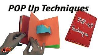 23 Pop ups card Techniques | DIY Popup Scrapbook | JK Arts 1389 #MothersDayCraft