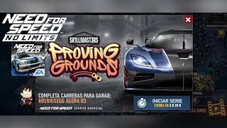 Need For Speed No Limits Android Koenigsegg Agera RS (2016) Dia 1 Calentado Motores