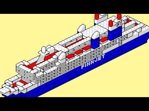 LEGO instructions pixel art movie: 1575 FINNJET