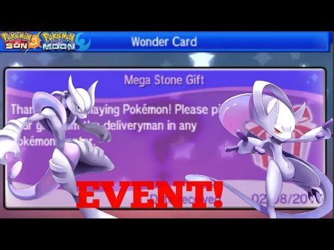 POKEMON SUN AND MOON HOW TO GET MEGA MEWTWO MYSTERY GIFT - YouTube
