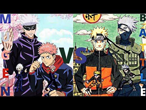 Gojo and Yuji vs Kakashi and Naruto