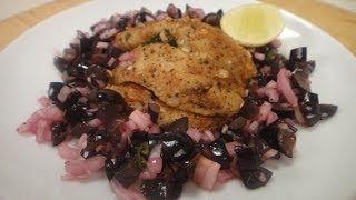 Cajun Spiced Fish with Grape Salsa  Sanjeev Kapoor Khazana