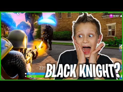 I Killed The Black Knight in Fortnite!!!